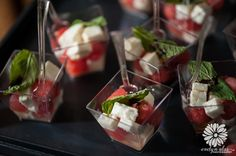 A refreshing watermelon, mint and cheese Appetizer