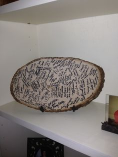 Wedding guestbook-doing it!