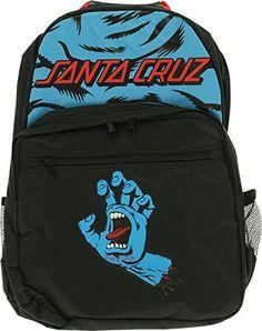 da6add7c41a15 Santa Cruz - Screaming Hand Backpack Blk   Blue - Skateboard Backpack -  Ground and Sea