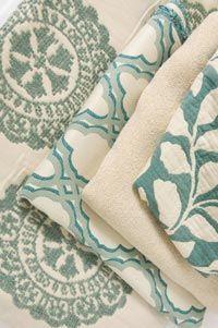 Sunbrella fabric from Kravet Oceania Teal Sunbrella Outdoor Upholstery