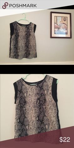 WGB Top Work Clothes Sheer Snake Blouse EUC sheer in the back, small sleeve detail Walter Baker Tops Blouses