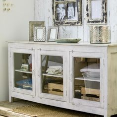 Amiri Antique Side Board - Somewhere to store all my paints, and I can see where they are with these glass doors!