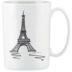 Lenox® Tin Can Alley® Paris 12 oz. Mug ($20) ❤ liked on Polyvore featuring home, kitchen & dining, drinkware, mugs, fillers, kitchen, accessories, tin mugs, lenox and lenox mugs