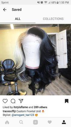 [ p i n t e r e s t ] : envytaaliyah🌵 [ i n s t a g r a m ] : envy. Baddie Hairstyles, Weave Hairstyles, Pretty Hairstyles, Wig Styles, Curly Hair Styles, Natural Hair Styles, Hair Laid, Love Hair, Crown