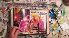 I filmed the creation of these pages in my art journal, then sped it up so you…