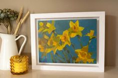 undefined Irish Art, Summer Sky, Figure Painting, Brush Strokes, Daffodils, Online Art, Still Life, Contemporary Art, Backdrops