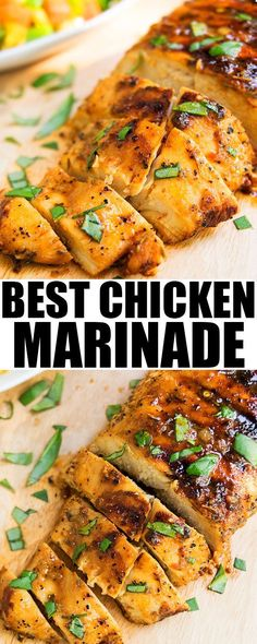 This quick and easy CHICKEN MARINADE recipe for the grill or oven is made with simple ingredients.  This healthy chicken marinade makes very juicy chicken.