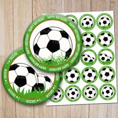 Soccer cupcake toppers Soccer theme birthday di PrintableMiracles, $6.00