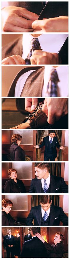 7x12 Time After Time - Winchester Clothing: 1944 Dean. Aka- the moment every Dean girl's ovaries exploded