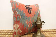 Decorative Kilim Pillow 16 x 16 Throw Pillow by kilimwarehouse, $52.00