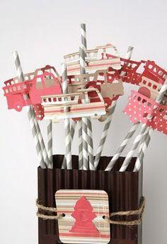 Decorated Straw #bus #car #cute #diy #creative