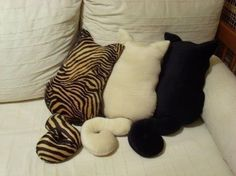Cute pillows for cat lovers.