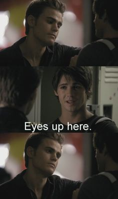 "This interaction between Stefan and Jeremy. | 14 Pictures Only ""The Vampire Diaries"" Fans Will Think Are Funny"