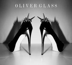"photo: ""Badass Alexa heels by Oliver Glass"" Black Stilettos, High Heels, Crazy Shoes, Me Too Shoes, Shoe Boots, Shoes Sandals, Killer Heels, Stiletto Pumps, Shoe Closet"