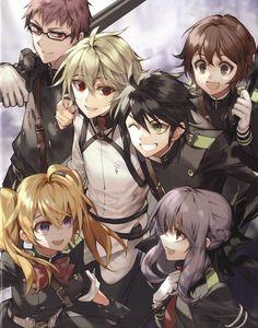 Owari no Seraph, Hyakuya Mikaela, Hiiragi Shinoa, Saotome Yoichi, Hyakuya Yuuichirou