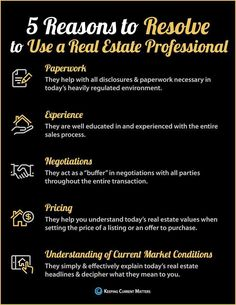 5 Reasons to Resolve to Hire a Real Estate Professional #INFOGRAPHIC #RealEstateSales #bhhs #realestateinfographics