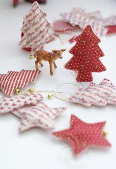 Christmas ♡♡♡ Guirnalda de arbolitos y estrellas de Navidad