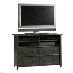 New Contemporary TV Stand Entertainment Center Media Console Estate Black Finish