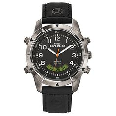 Men's Wrist Watches - Timex H2Z571 Mens Expedition Leather Band Analog Digital Metal Combo Watch ** Click on the image for additional details.