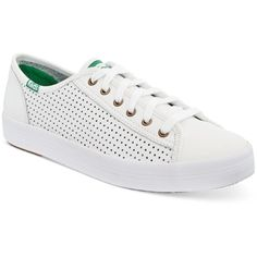 Keds Women's Kickstart Perforated Sneakers ($60) ❤ liked on Polyvore  featuring shoes, sneakers