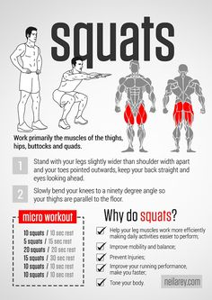 Squats Workout by Neila Rey