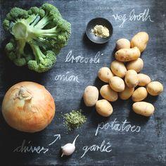 vegan potato broccoli soup