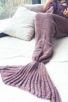Cupshe Mermaid Party Falbala Children Blanket