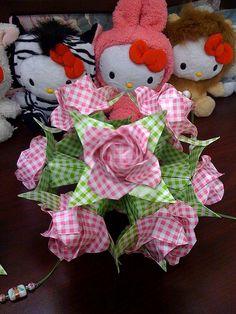 Rose Origami Kusudama by MegaMC2010, via Flickr