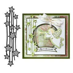 Marianne Design - Craftables Dies - Falling Stars CR1294 | Scrapbooking, Cardmaking, & Craft Supplie
