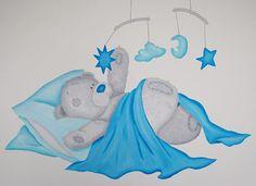 Me to You muurschildering in babykamer