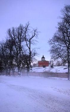Suomenlinna in January.