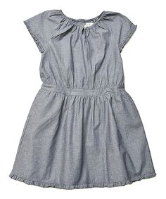Look what I found on #zulily! Navy Chambray Pia Dress - Toddler & Girls by Olive Juice #zulilyfinds