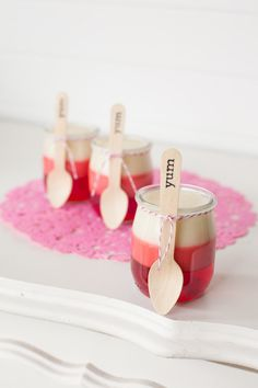 Pudding jars  So cute for a kids Birthday