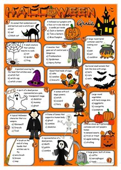 Halloween quiz worksheet - Free ESL printable worksheets made by teachers