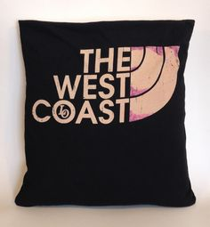 The West Coast Upcycled TShirt Pillow Slip by SLIPUpcycledDesign, $25.00