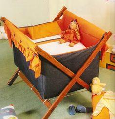 Como hacer un catre o cuna para bebe recien nacido Hermosa cunita para bebe OjoconelArte.cl |