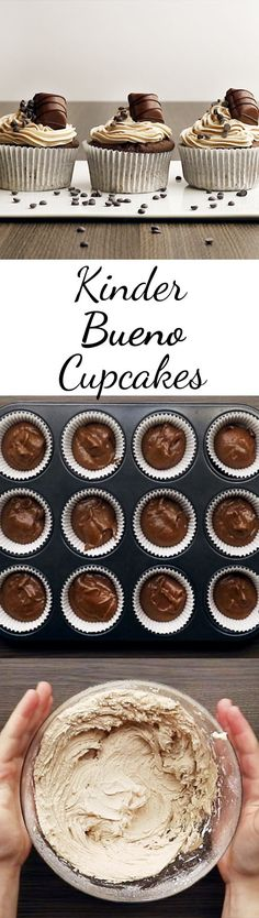Kinder-Bueno-Cupcakes – so geht's Will someone please bake for me? Related posts: Kinder-Bueno-Cupcakes – so geht's Kinder Schoko-Bon-Cupcakes Kinder-Bueno-Kuchen ohne Backen Backen Kinder Bueno Kuchen Rezepte Cupcake Recipes, Baking Recipes, Cupcake Cakes, Dessert Recipes, Brownie Recipes, Fall Desserts, No Bake Desserts, Ice Cream Recipes, Cookies Et Biscuits
