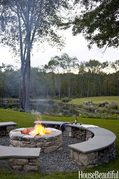 Family Fire Pit  - HouseBeautiful.com