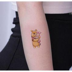 Set of 2 Winnie the Pooh temporary tattoo vintage Fake waterproof boho small wrist tattoo custom bac Disney Tattoos Small, Small Wrist Tattoos, Baby Tattoos, Friend Tattoos, Tatoos, Cute Tiny Tattoos, Little Tattoos, Piglet Tattoo, Winnie The Pooh Tattoos