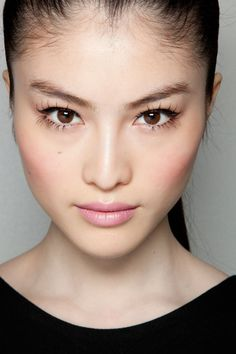 lashes and blush; Sui He