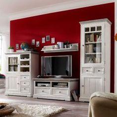Landhausstil wohnzimmermöbel  Wohnzimmermöbel Set in Weiß (7-teilig) - Gemütliche Landhausmöbel ...