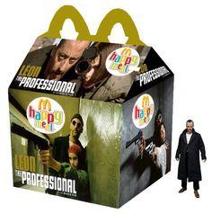The Professional Happy Meal - Léon Cult Movies, Action Movies, Horror Movies, Happy Meal Box, Ghost Movies, Horror Decor, Pop Culture Art, Secret Menu, Lego Projects