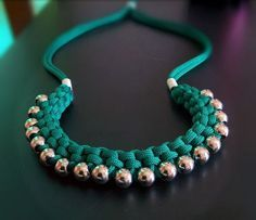 Make a Woven Paracord Necklace with Big Hole Beads ~ The Beading Gem's Journal