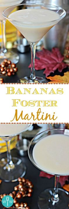 Bananas Foster Martini – A smooth, creamy martini reminiscent of the classic dessert with rich vanilla and banana flavors and caramel undertones. Your new favorite dessert martini! | www.worthwhisking.com