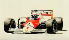 Alain Prost the Champion by klem.deviantart.com on @deviantART