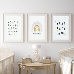 Nursery decor for baby girl and nursery ideas from Sunny and Pretty. Baby girl nursery wall art full of rainbows, hearts, stars, and cuteness. Nursery art and nursery prints to complete your nursery decor project. Our nursery wall art is made with love and is designed to reflect your nursery wall decor style. 🖤 Get excited about decorating for your little one! #sunnyandpretty Nursery Artwork, Nursery Paintings, Bedroom Art, Nursery Wall Decor, Baby Room Decor, Nursery Themes, Nursery Prints, Girl Nursery, Nursery Ideas