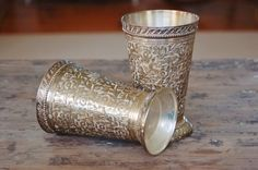 A gorgeous pair of #silver plated #mintjulep cups - SOLD! :)