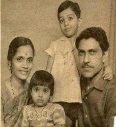 Amrish Puri with family