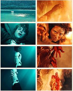 Frodo and Sam. Friendship, faithfulness, loyalty, love. They never let go of each other.