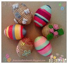 Uova decorate polistirolo